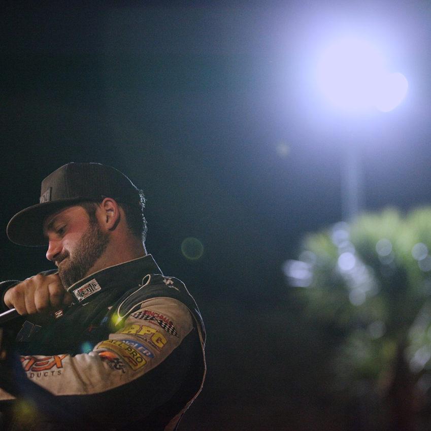 Austin McCarl teamed up with Florida-based car owner; Tom Leidig for Florida Speedweeks at Volusia Speedway.( Jeffrey Turford / TDP )