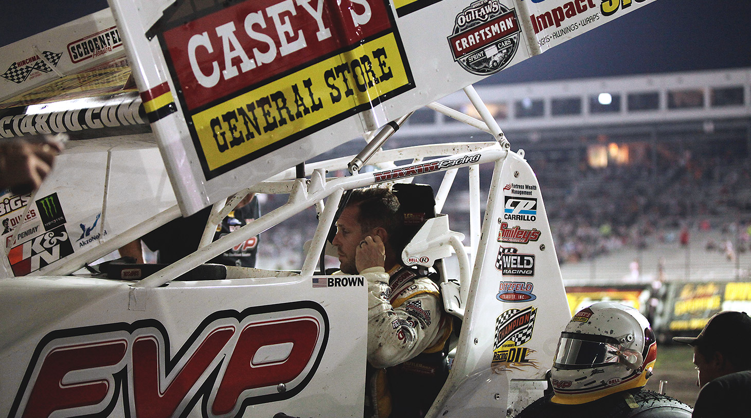 Brian Brown is a 3-time runner-up at The Knoxville Nationals. (Jeffrey Turford / TDP)
