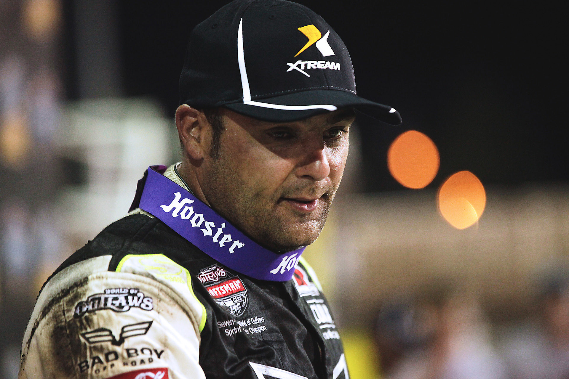 Donny Schatz in Knoxville Raceway victory lane. Schatz had a very productive weekend at Knoxville. Friday night he placed 2nd and Saturday night he got the win off a late race pass. ( Jeffrey Turford / TDP )