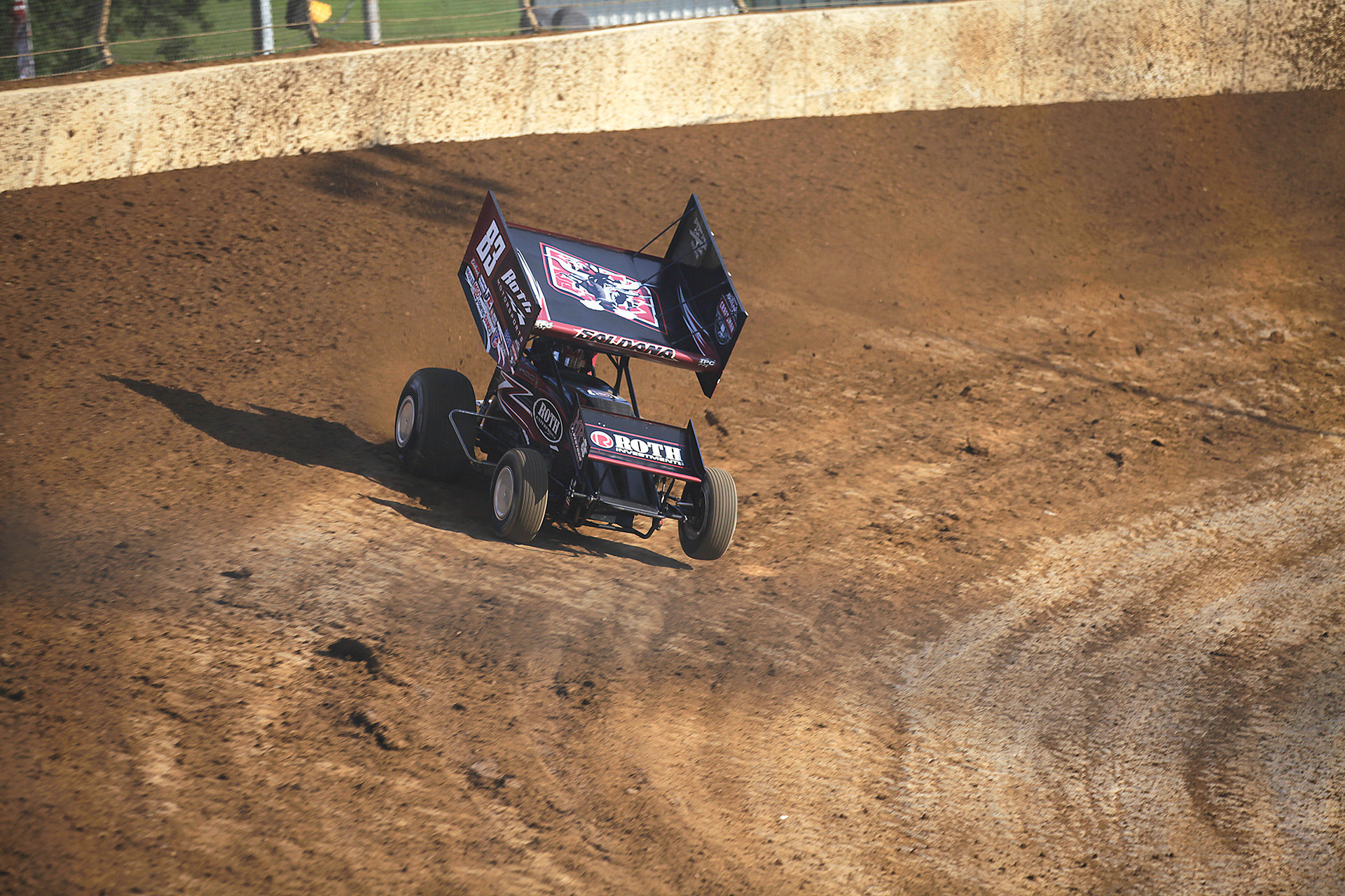 Joey Saldana posted quick time at Lawrenceburg Speedway with The Craftsman World of Outlaws. ( Jeffrey Turford / TDP )