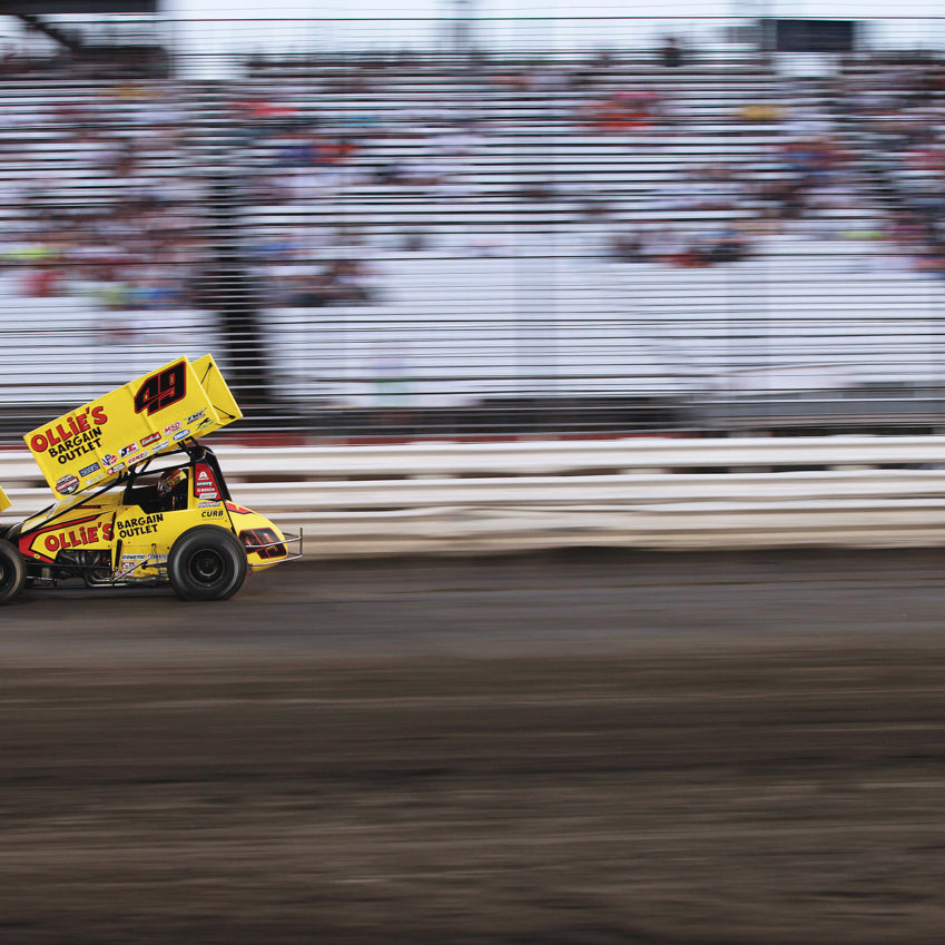 Brad Sweet set quick time during trials at Knoxville Raceway on Saturday with The World of Outlaws. ( Jeffrey Turford / TDP )