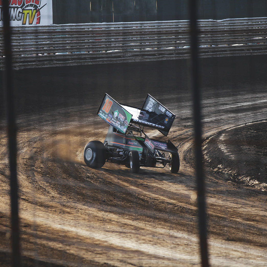 Dakota Hendrickson during time trials on Saturday night. ( Jeffrey Turford / TDP )