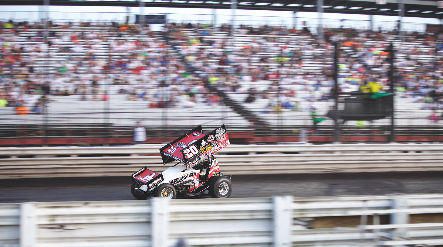 Greg Wilson has captured 1 feature win in his rookie season on The World of Outlaws tour. (Jeffrey Turford / TDP)