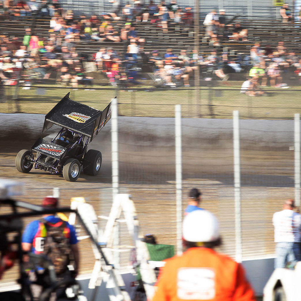 Trey Starks qualifying at Eldora Speedway. Starks time trialed 6th fastest for The Kings Royal at Eldora Speedway. ( Jeffrey Turford / TDP )