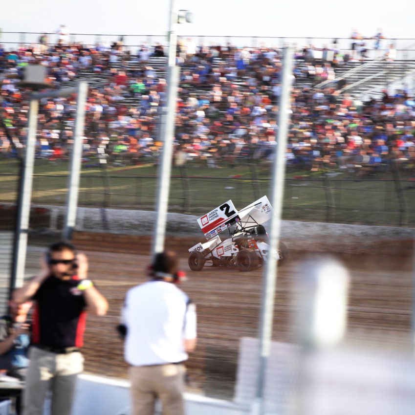 Shane Stewart won the Last Chance Showdown race to secure his spot in The 33rd Annual Kings Royal at Eldora. Stewart finished 6th after starting 21st in the feature. ( Jeffrey Turford / TDP )