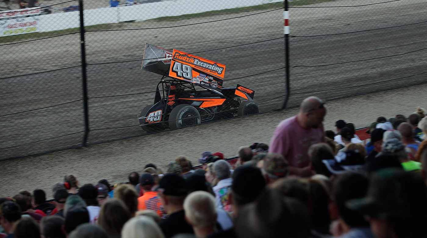 Tim Shaffer won the 50th Anniversary of The Knoxville Nationals. (Jeffrey Turford / TDP)