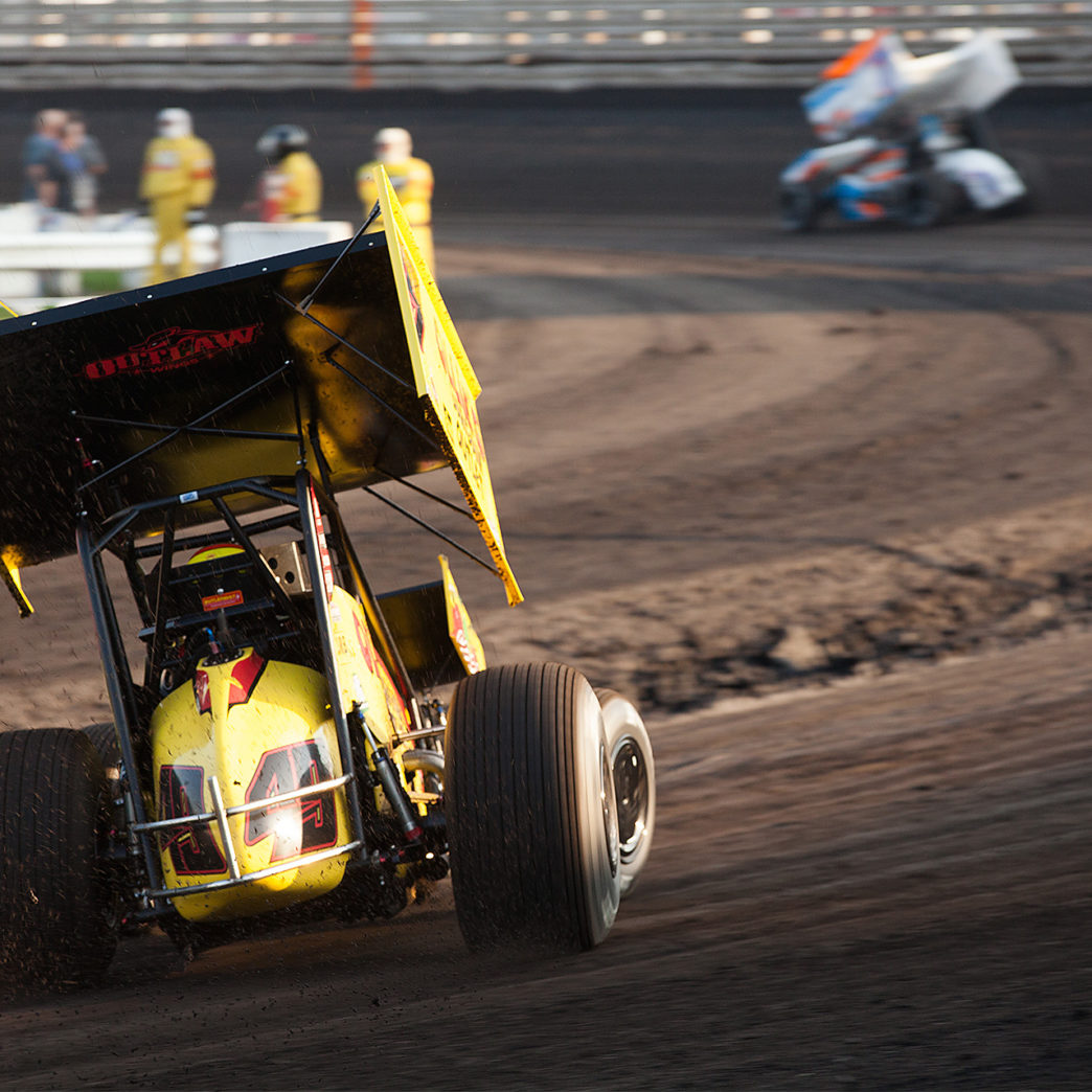 Brad Sweet time trialed fastest out of a field of 60 on day 2 of The Knoxville Nationals. ( Jeffrey Turford / TDP )