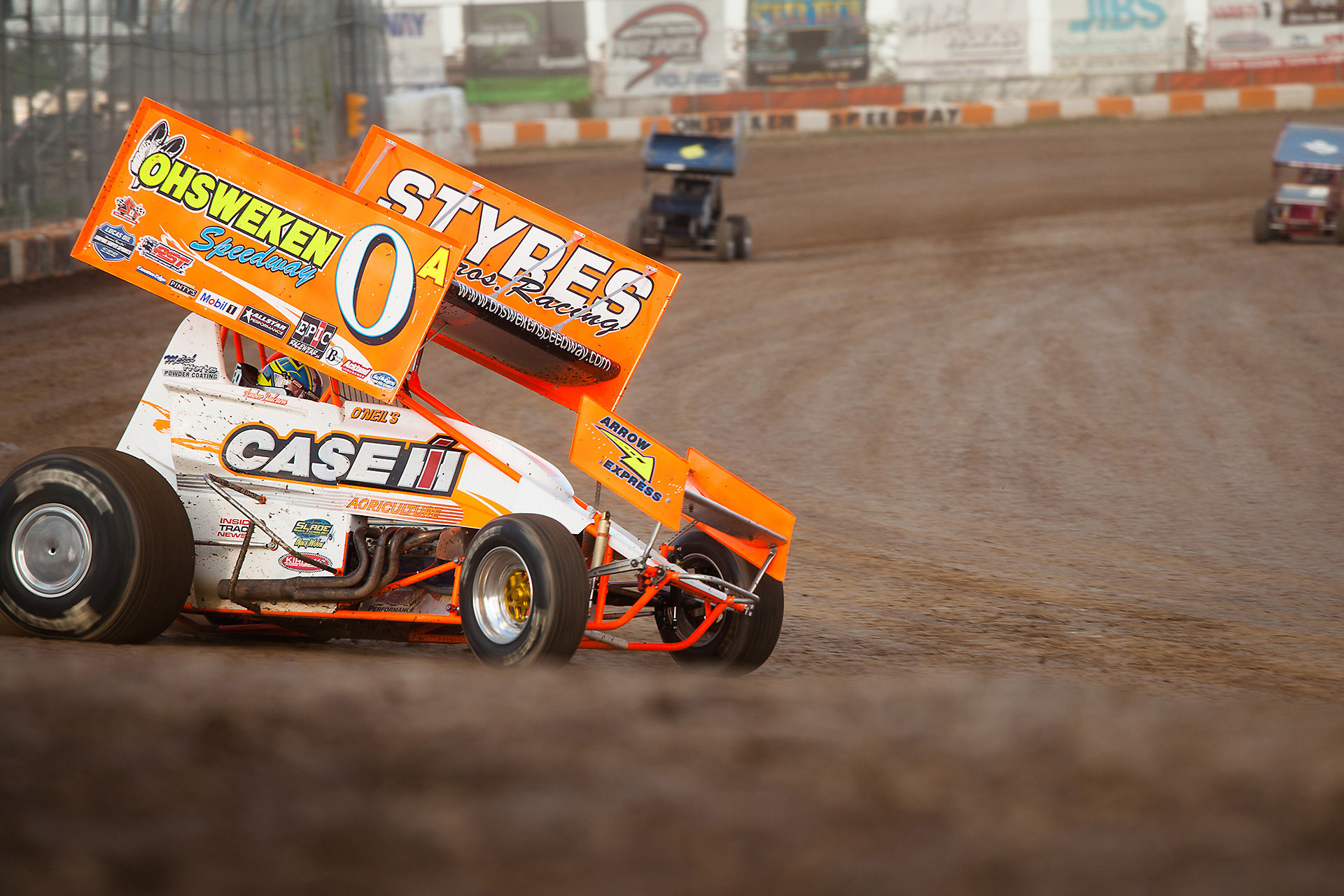 Amber Balcaen throws it into turn 3 during hot laps at the 2016 CSCN