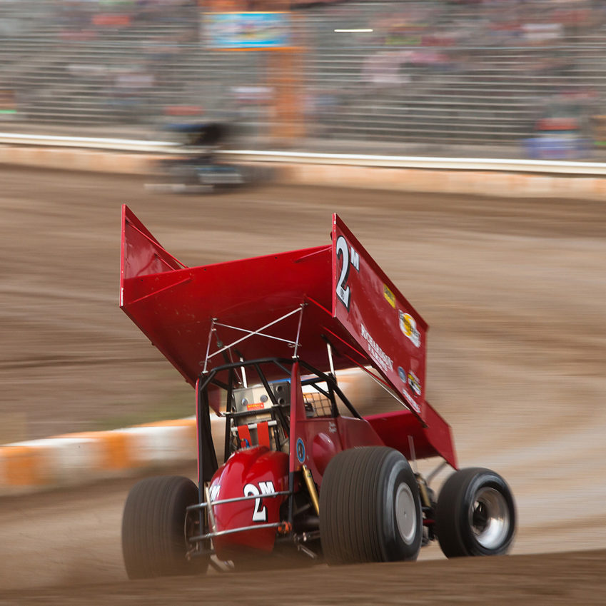 Dustin Daggett time trialed 2nd fastest in his group at the 2016 Canadian Sprint Car Nationals