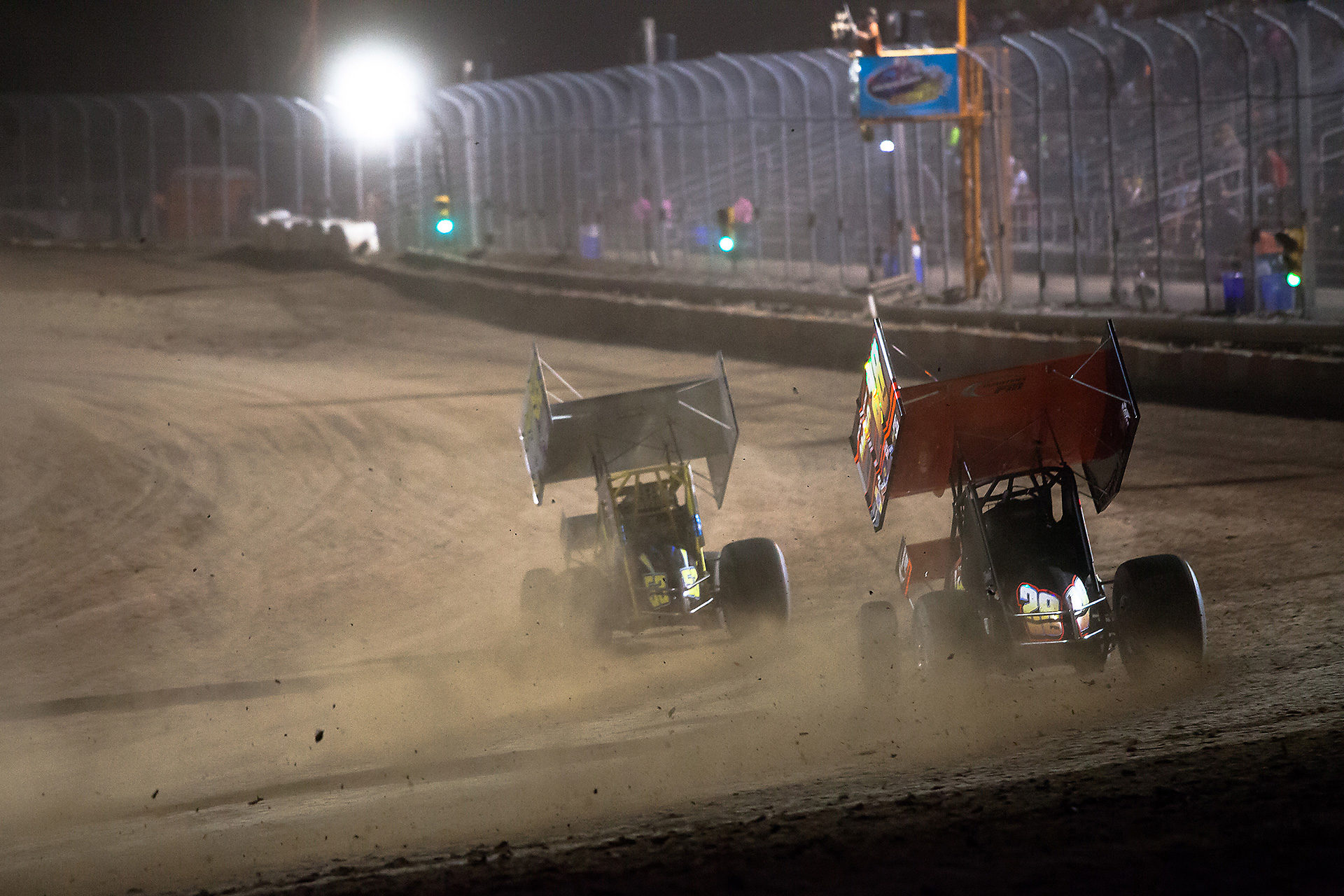 no.53 Shawn Donath and 28fm Steve Poirier battle hard to the checkered in their heat at the CSCN