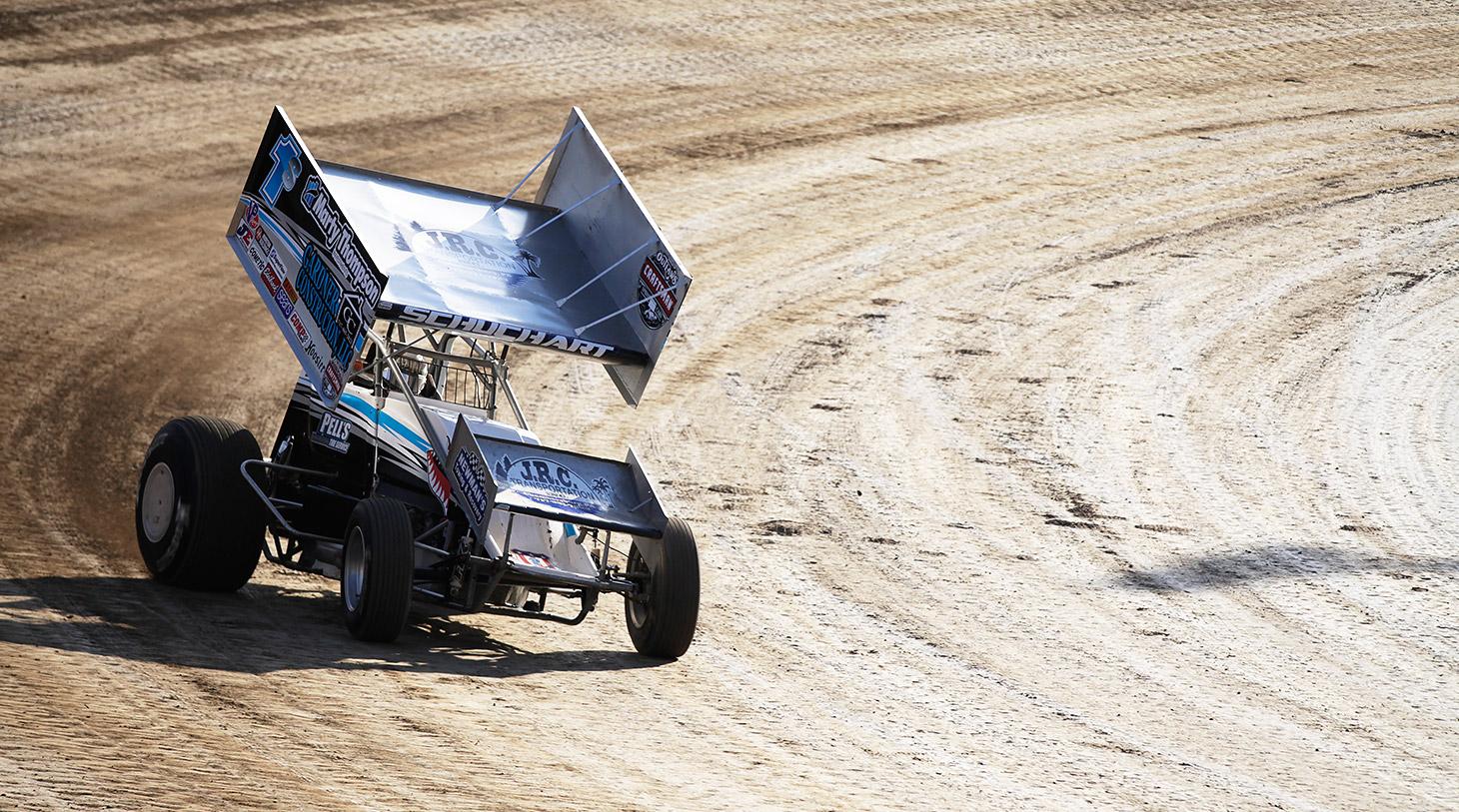 Logan Schuchart qualifying at The 2016 Kings Royal at Eldora Speedway. (Jeffrey Turford / TDP)