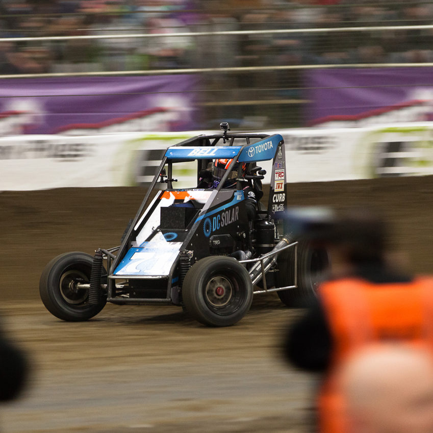 Saturday January 14, TULSA, Oklahoma - Christopher Bell leading the field of The 31st annual Lucas Oil Chili Bowl Nationals presented by General Tire ( Jeffrey Turford / TDP )
