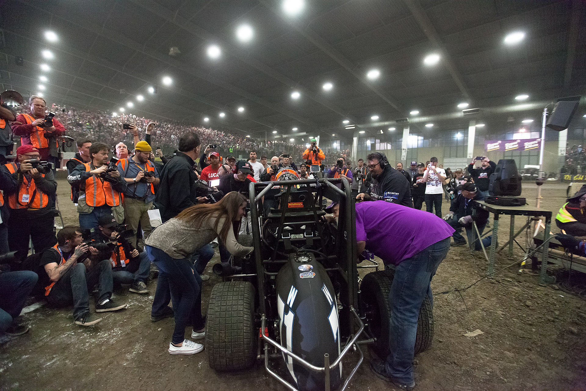 Saturday January 14, TULSA, Oklahoma - Keith Kunz—co-founder of Keith Kunz Motorsports; winner of The 31st annual Lucas Oil Chili Bowl Nationals presented by General Tire ( Jeffrey Turford / TDP )