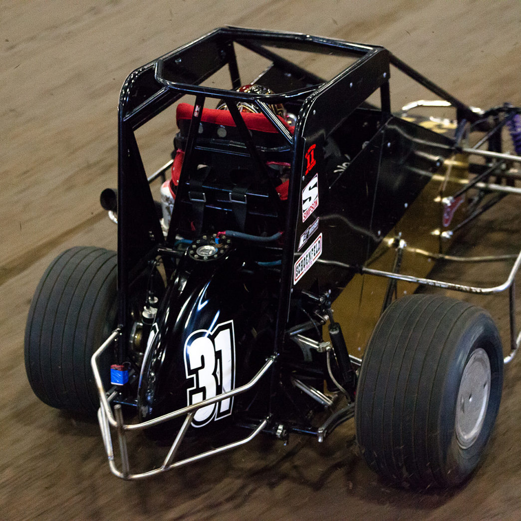 Wednesday January 11, 2017 TULSA, Oklahoma - Travis Berryhill out in front during Heat 3 on Hard Rock Casino, Tulsa Night of The 31st annual Lucas Oil Chili Bowl Nationals presented by General Tire ( Jeffrey Turford / TDP )
