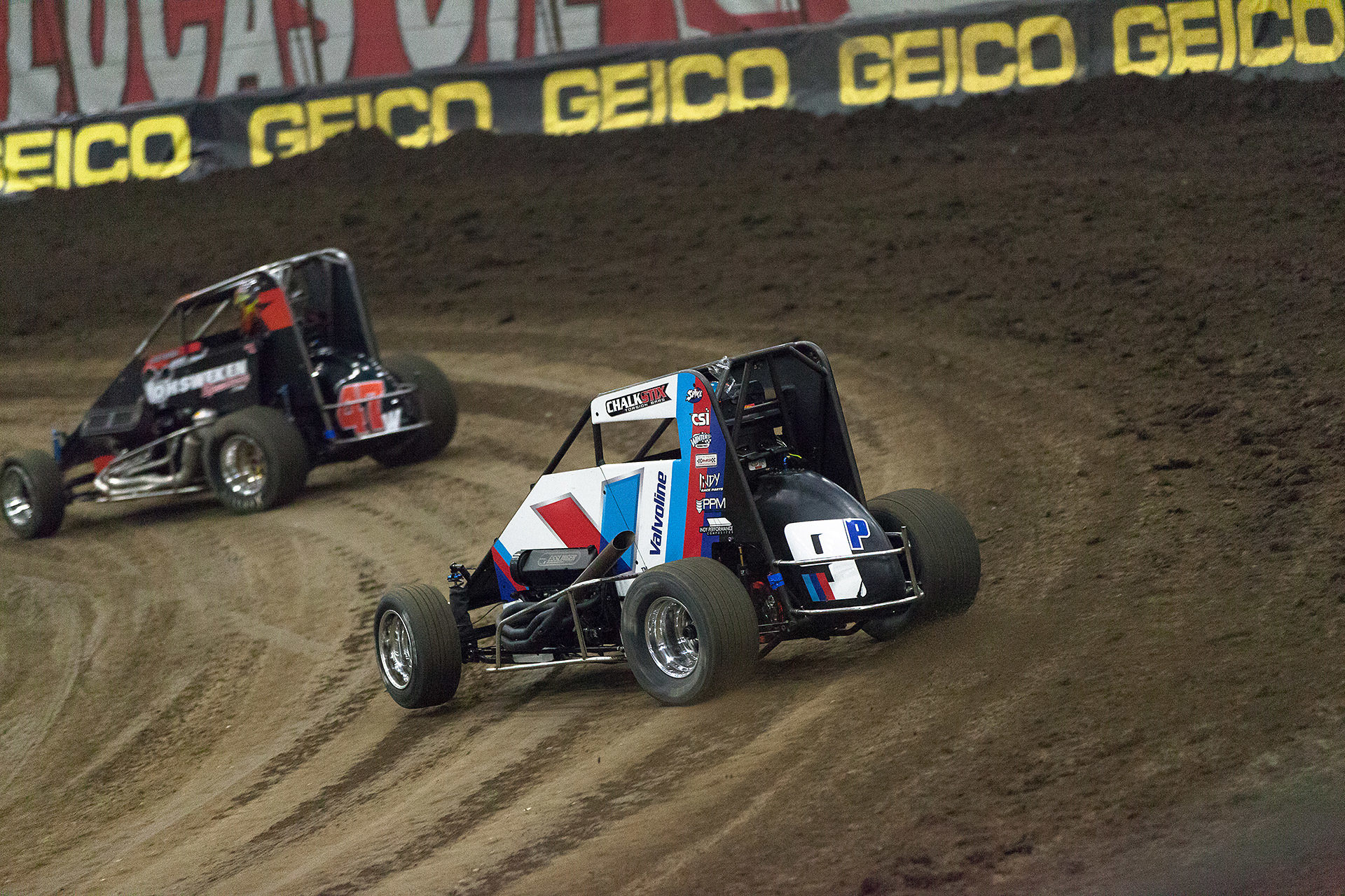 Wednesday January 11, 2017 TULSA, Oklahoma - Parker Price-Miller looked fast in his new Valvoline ride on Hard Rock Casino, Tulsa Night of The 2017 Chili Bowl Nationals ( Jeffrey Turford / TDP )