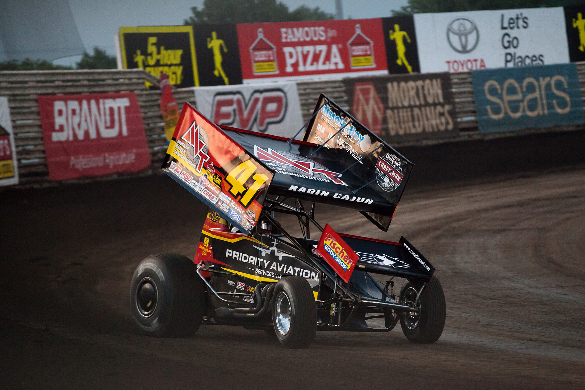 Jason Johnson makes his time trail run at the 2016 Knoxville Nationals. ( Jeffrey Turford / TDP )