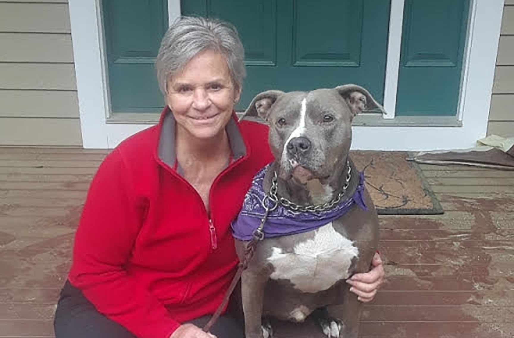 Corinne Economaki and blue are now enjoying life in Easton, MD.